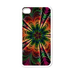 Kaleidoscope Patterns Colors Apple Iphone 4 Case (white)