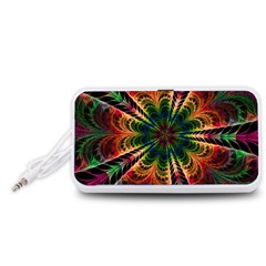 Kaleidoscope Patterns Colors Portable Speaker (white)