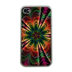 Kaleidoscope Patterns Colors Apple Iphone 4 Case (clear)
