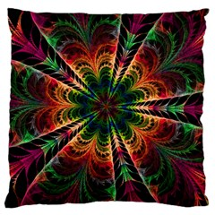 Kaleidoscope Patterns Colors Large Flano Cushion Case (two Sides)
