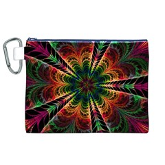 Kaleidoscope Patterns Colors Canvas Cosmetic Bag (xl)