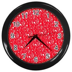 Heart Pattern Wall Clocks (black)