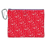 Heart Pattern Canvas Cosmetic Bag (XXL) Front