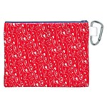 Heart Pattern Canvas Cosmetic Bag (XXL) Back