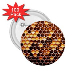 Honey Honeycomb Pattern 2 25  Buttons (100 Pack)