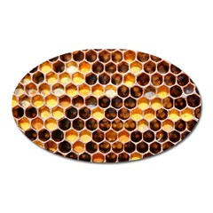 Honey Honeycomb Pattern Oval Magnet