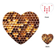 Honey Honeycomb Pattern Playing Cards (heart)