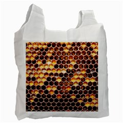 Honey Honeycomb Pattern Recycle Bag (one Side)