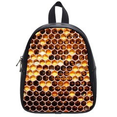 Honey Honeycomb Pattern School Bags (small)