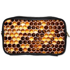 Honey Honeycomb Pattern Toiletries Bags 2 Side