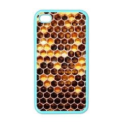 Honey Honeycomb Pattern Apple Iphone 4 Case (color)