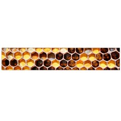 Honey Honeycomb Pattern Flano Scarf (large)