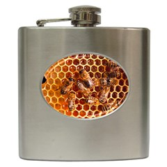 Honey Bees Hip Flask (6 Oz)