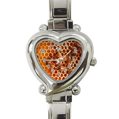 Honey Bees Heart Italian Charm Watch