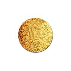 Gold Pattern Golf Ball Marker (4 Pack)
