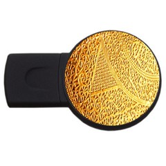 Gold Pattern Usb Flash Drive Round (2 Gb)