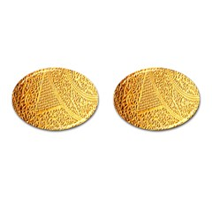 Gold Pattern Cufflinks (oval)