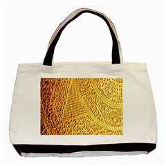 Gold Pattern Basic Tote Bag