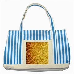 Gold Pattern Striped Blue Tote Bag