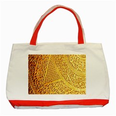 Gold Pattern Classic Tote Bag (red)