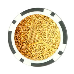 Gold Pattern Poker Chip Card Guard