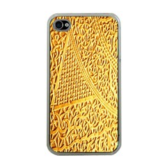 Gold Pattern Apple Iphone 4 Case (clear)