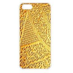Gold Pattern Apple Iphone 5 Seamless Case (white)