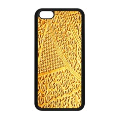 Gold Pattern Apple Iphone 5c Seamless Case (black)