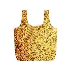 Gold Pattern Full Print Recycle Bags (s)