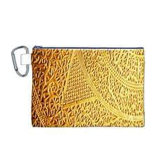 Gold Pattern Canvas Cosmetic Bag (m)
