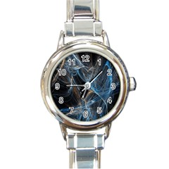 Fractal Tangled Minds Round Italian Charm Watch