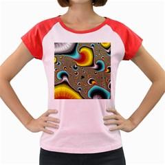 Fractals Random Bluray Women s Cap Sleeve T Shirt