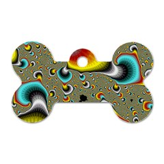 Fractals Random Bluray Dog Tag Bone (two Sides)