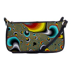 Fractals Random Bluray Shoulder Clutch Bags