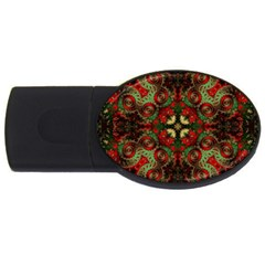 Fractal Kaleidoscope Usb Flash Drive Oval (4 Gb)