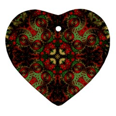 Fractal Kaleidoscope Heart Ornament (two Sides)
