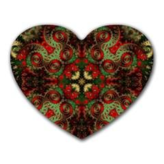 Fractal Kaleidoscope Heart Mousepads