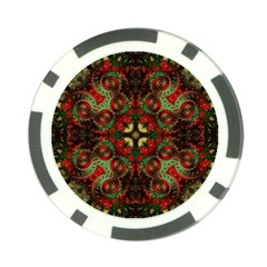Fractal Kaleidoscope Poker Chip Card Guard (10 Pack)