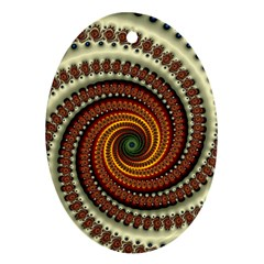 Fractal Pattern Ornament (oval)