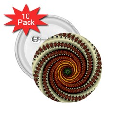 Fractal Pattern 2 25  Buttons (10 Pack)