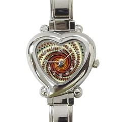 Fractal Pattern Heart Italian Charm Watch