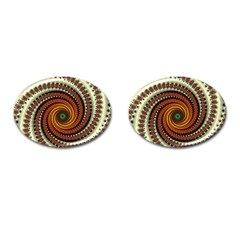 Fractal Pattern Cufflinks (oval)