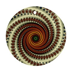 Fractal Pattern Round Ornament (two Sides)