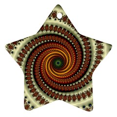 Fractal Pattern Star Ornament (two Sides)