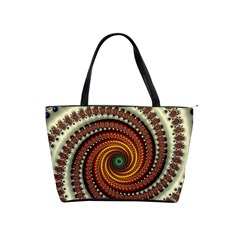 Fractal Pattern Shoulder Handbags