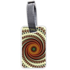 Fractal Pattern Luggage Tags (one Side)