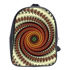 Fractal Pattern School Bags (xl)