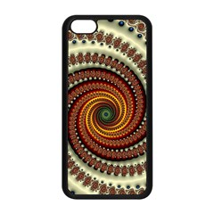 Fractal Pattern Apple Iphone 5c Seamless Case (black)