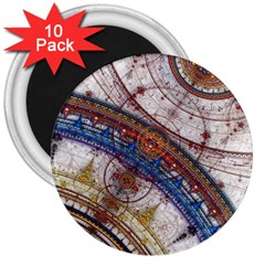 Fractal Circles 3  Magnets (10 Pack)