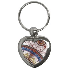 Fractal Circles Key Chains (heart)